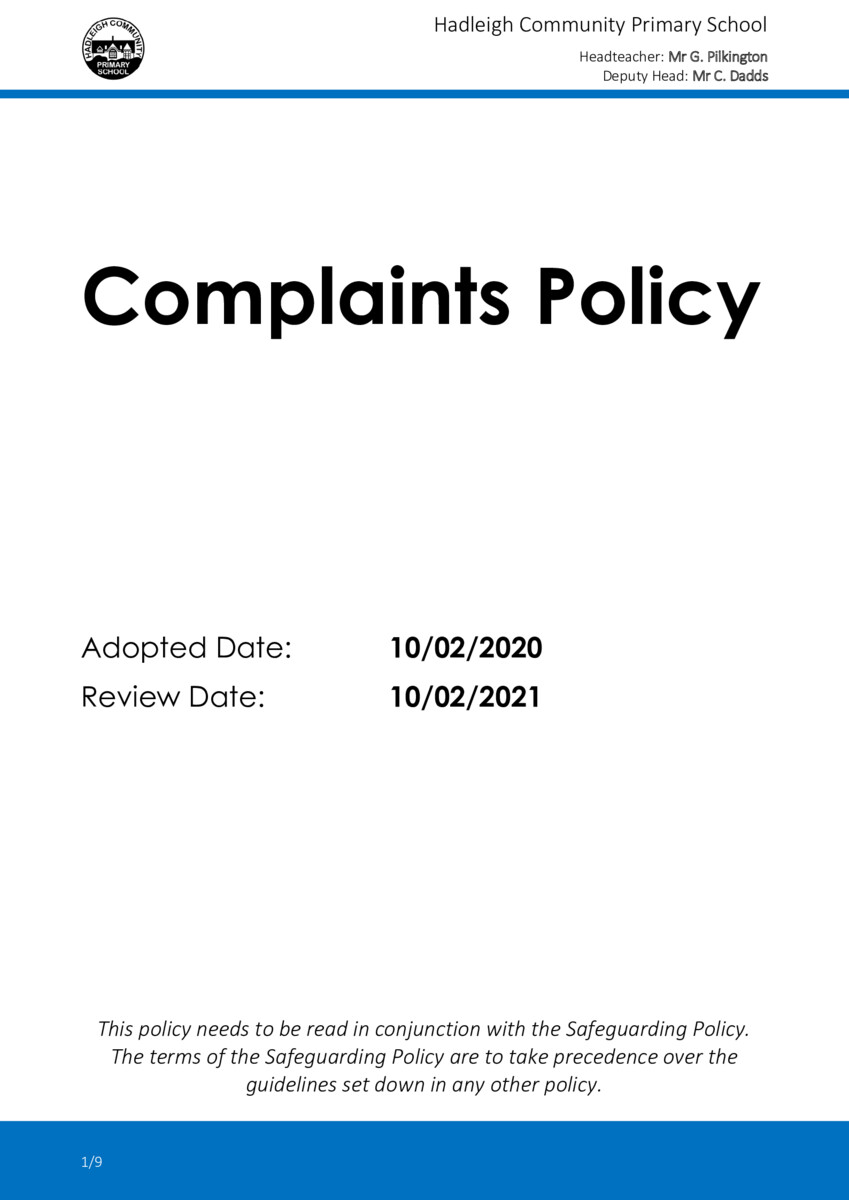 thumbnail of POLICY-2020-02-Complaints