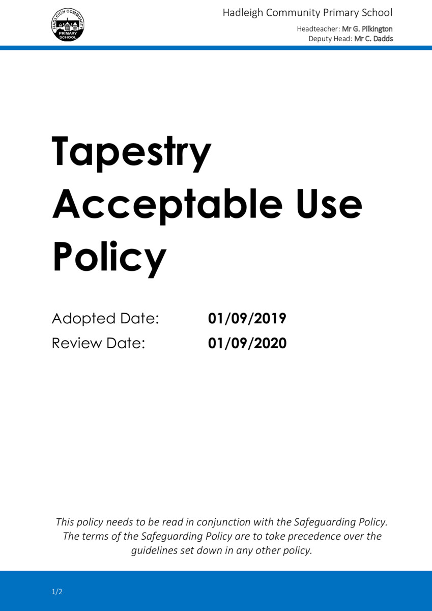 thumbnail of 2019-09 Tapestry Acceptable Use Policy