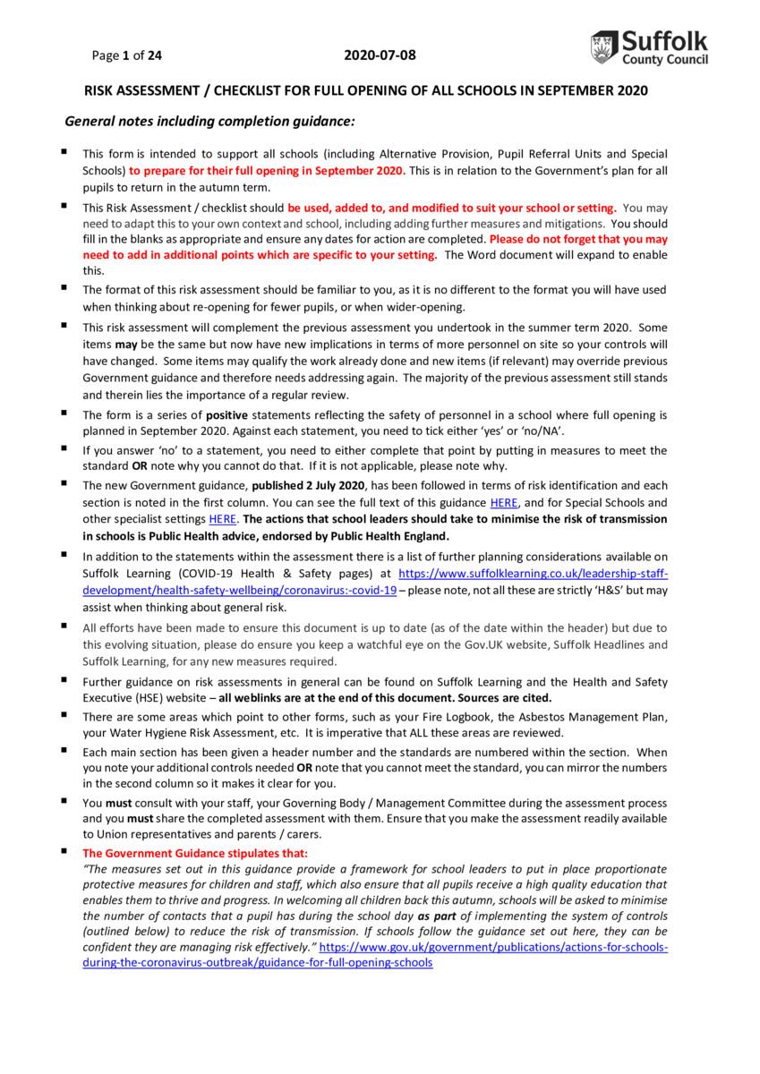 thumbnail of DOC-Suffolk CC Risk assessment form for website 14th September 2020