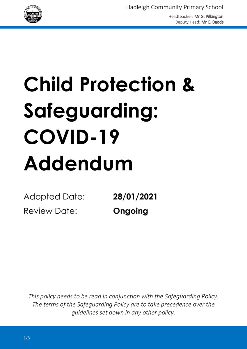 thumbnail of POLICY-COVID-19-Child-Protection-Safeguarding-Addendum