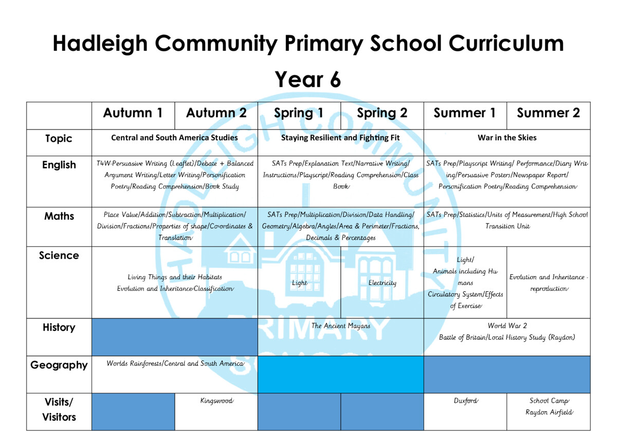 thumbnail of Year 6 Curriculum Revised 3