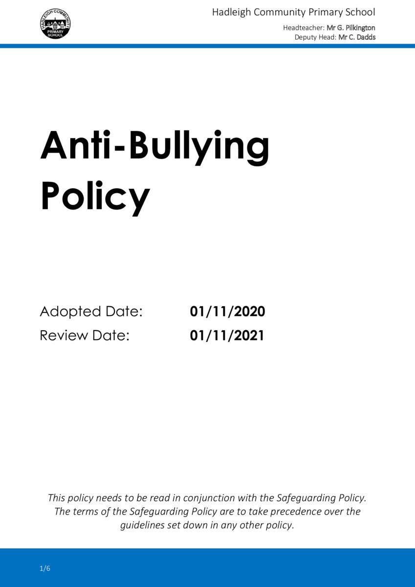 thumbnail of 2020-21 Anti-Bullying Policy