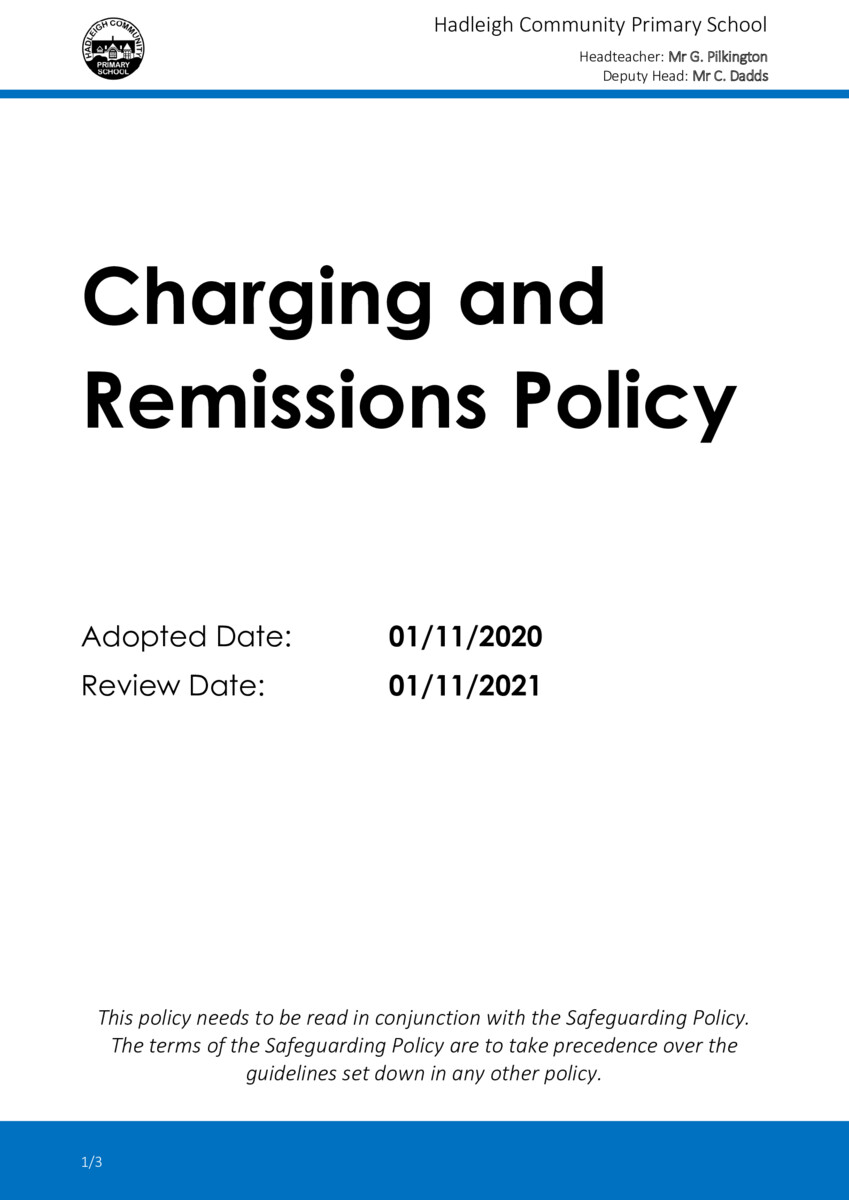 thumbnail of 2021 Charging and Remissions Policy