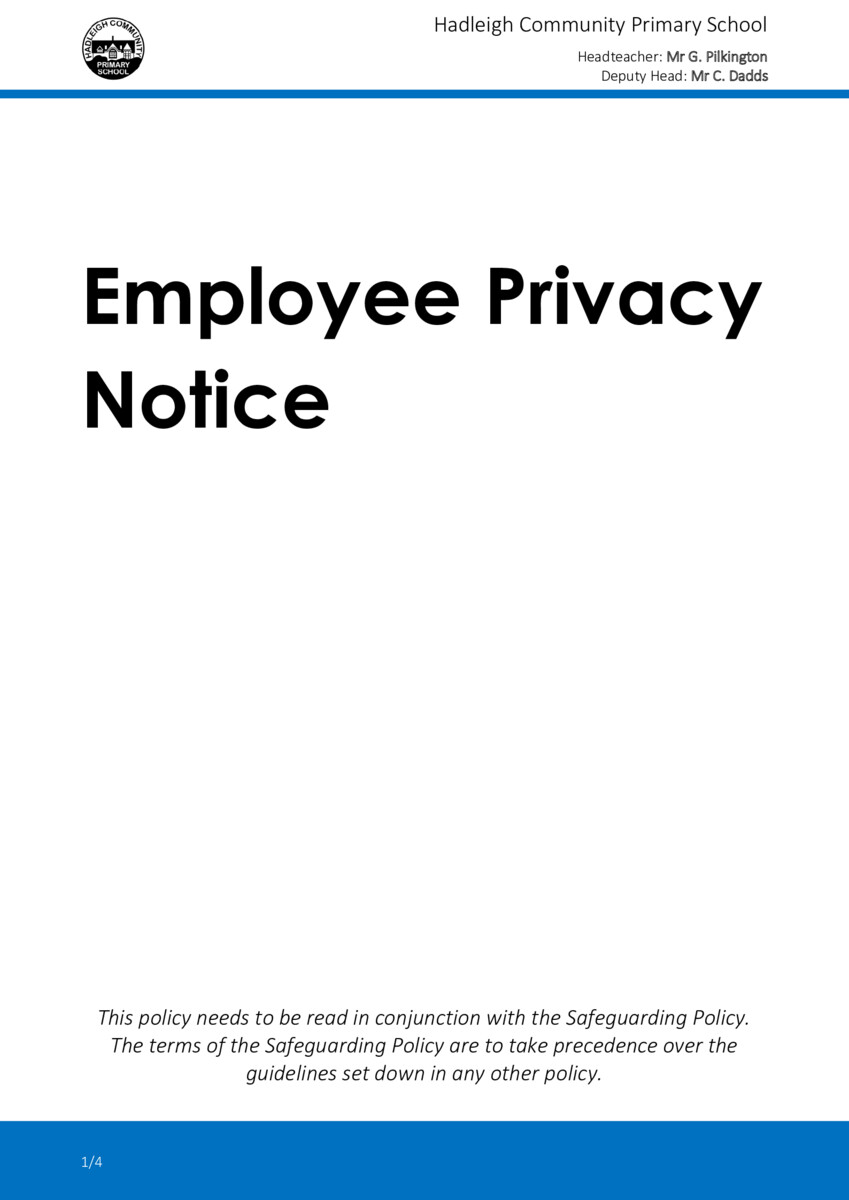 thumbnail of Employee Privacy Notice (NEW)