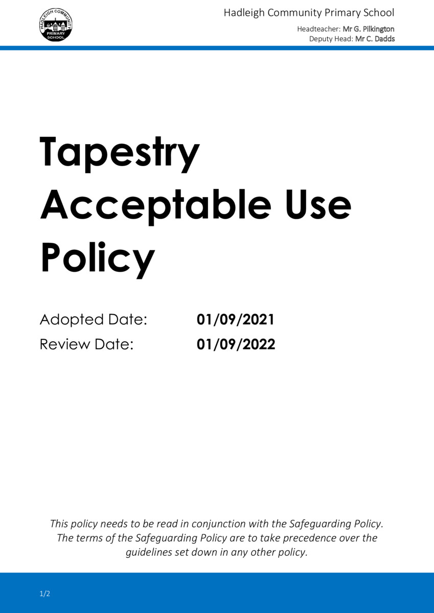 thumbnail of 2021-09 Tapestry Acceptable Use Policy